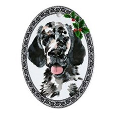 English Setter Oval Ornament