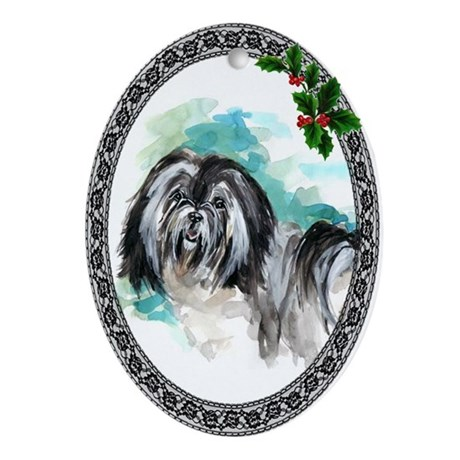 Lowchen (Little Lion Dog) Oval Ornament