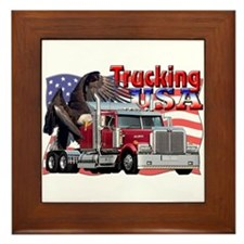 Trucking USA Framed Tile