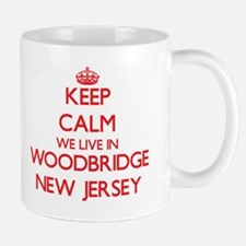 Keep calm we live in Woodbridge New Jersey Mugs