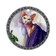 Sphynx Cat Ornament (Round)