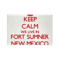 Keep calm we live in Fort Sumner New Mexic Magnets