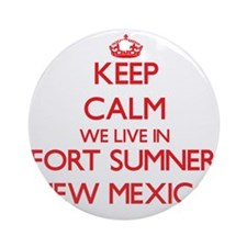 Keep calm we live in Fort Sumner Ornament (Round)