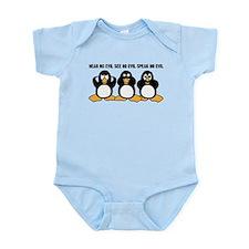 Three Wise Penguins Design Graphic Infant Bodysuit