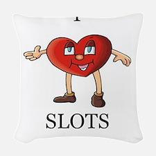 SLOTS Woven Throw Pillow