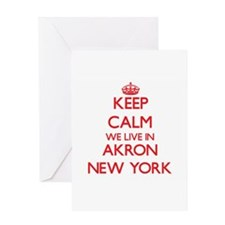 Keep calm we live in Akron New York Greeting Cards