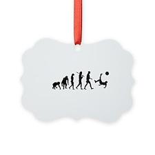 Soccer Evolution Ornament
