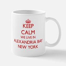 Keep calm we live in Alexandria Bay New York Mugs