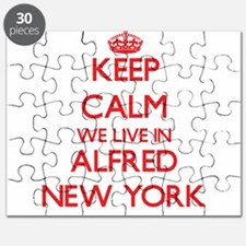 Keep calm we live in Alfred New York Puzzle