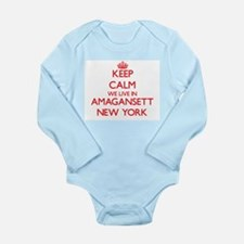 Keep calm we live in Amagansett New York Body Suit