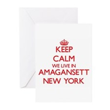 Keep calm we live in Amagansett New Greeting Cards