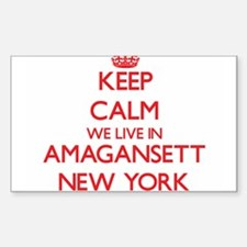 Keep calm we live in Amagansett New York Decal