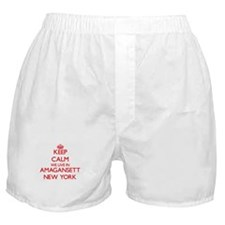 Keep calm we live in Amagansett New Y Boxer Shorts