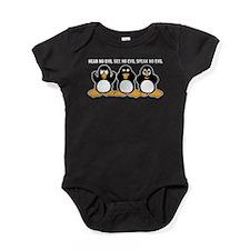 Three Wise Penguins Design Graphic Baby Bodysuit