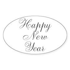Happy New Year Black Script Decal