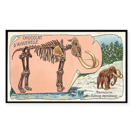 Mammouth ou Elephas Primigenius Sticker (Rectangul