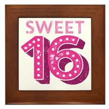 Sweet 16 Framed Tile