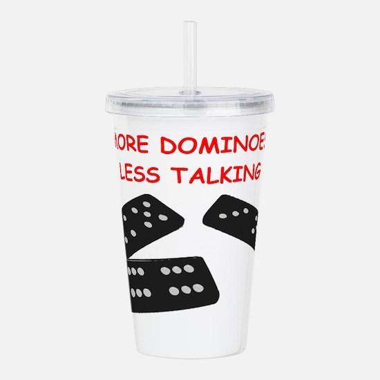 dominoes Acrylic Double-wall Tumbler