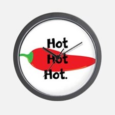 Hot Hot Hot Chili Pepper Wall Clock