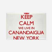Keep calm we live in Canandaigua New York Magnets