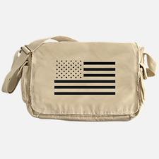 Black and White USA Flag Messenger Bag