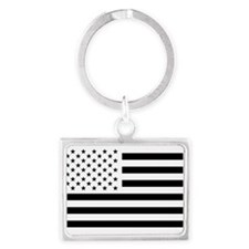 Black and White USA Flag Keychains