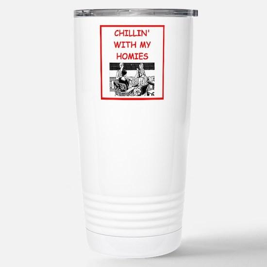 card player Stainless Steel Travel Mug