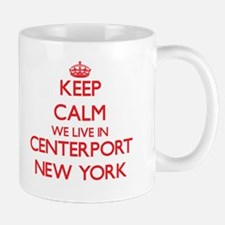 Keep calm we live in Centerport New York Mugs