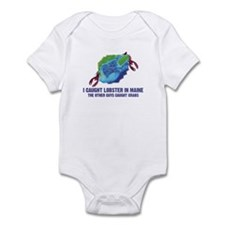 Funny Fishing in Maine Infant Bodysuit