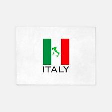 italy flag 01 5'x7'Area Rug