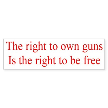 Right to Own Guns Bumper Sticker