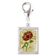 Gold Lace Rose Charms