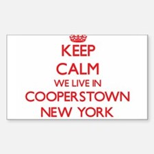 Keep calm we live in Cooperstown New York Decal