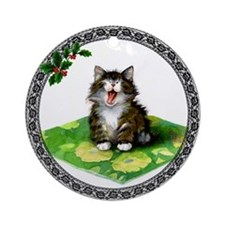 Norwegian Forest Cat Ornament (Round)