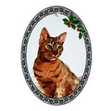 Ocicat Oval Ornament