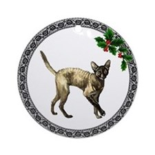 Cornish Rex Cat Ornament (Round)