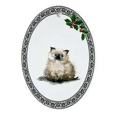 Himalayan Kitty Oval Ornament