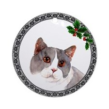 British Shorthair Cat Ornament (Round)