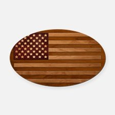 Wooden Glory Oval Car Magnet