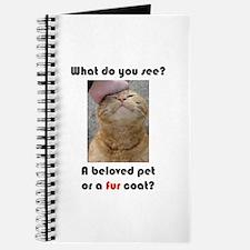 Pet or Coat? (Ginger Cat) Journal