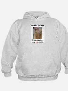 Pet or Coat? (Ginger Cat) Hoodie
