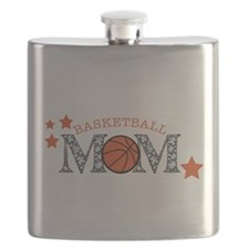 Basketbll Mom Flask