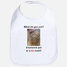 Pet or Coat? (Ginger Cat) Bib