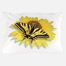 Tiger Swallowtail Butterfly & Daisy Pillow Case