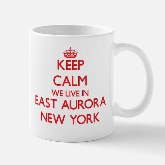 Keep calm we live in East Aurora New York Mugs