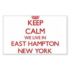 Keep calm we live in East Hampton New York Decal