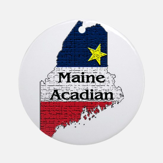 Maine Acadian State graphic Ornament (Round)
