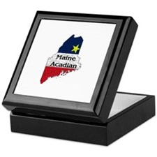 Maine Acadian State graphic Keepsake Box