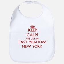 Keep calm we live in East Meadow New York Bib