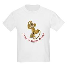 Monkey T-Shirt, Kids: I like to monkey around